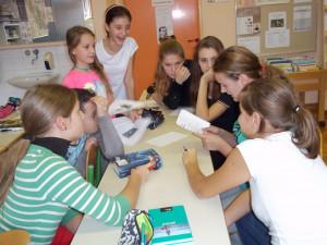 Učenke, ki smo sodelovale v projektu Šolske knjižnice so zakon!